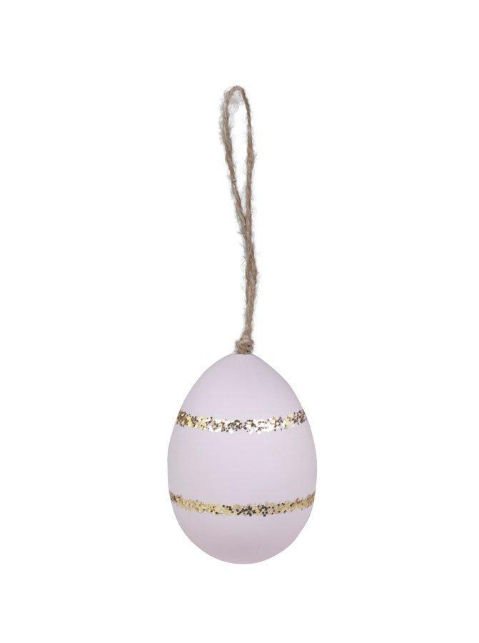 Chic Antique Ei mit Gold Glimmer Streifen