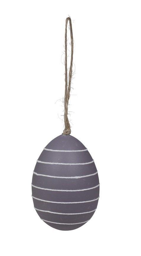 Chic Antique Ei mit weißen Streifen