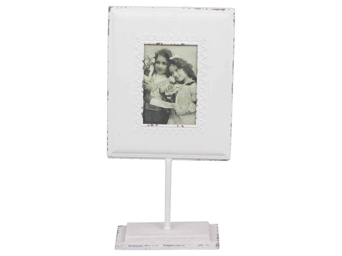 Chic Antique Fotorahmen auf Fuß mit Volantkante