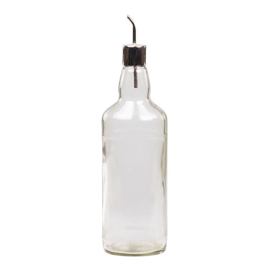 Chic Antique Französische Glasflasche mit Ausgießer