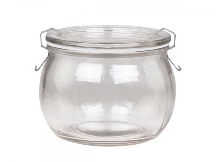Chic Antique Französisches Einmachglas bauchig