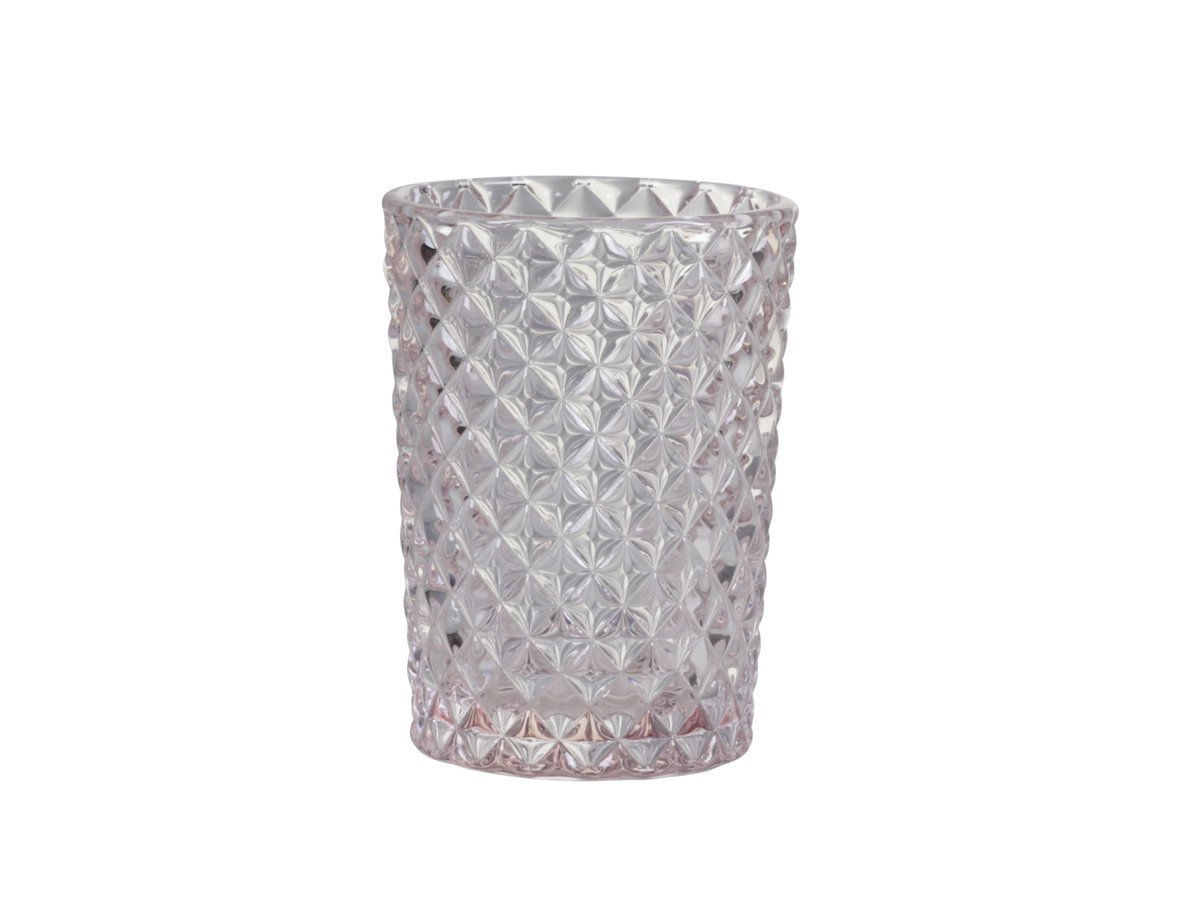 Chic Antique Glas Becher Karo Muster