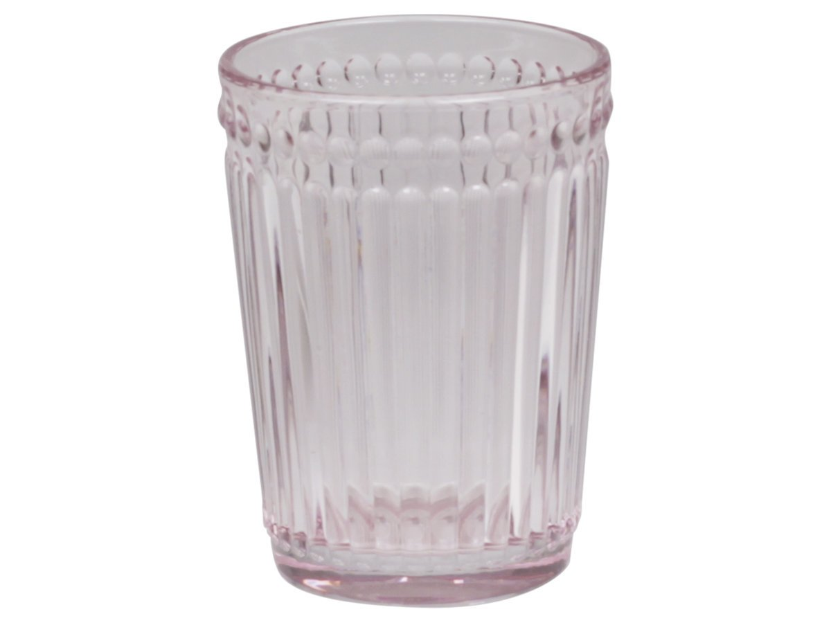 Chic Antique Glas Becher mit Perlenkante