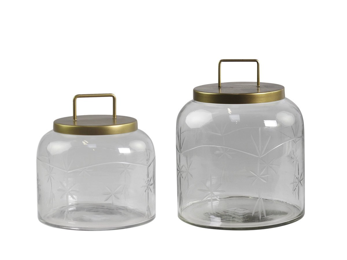 Chic Antique Glas Behälter mit Deckel