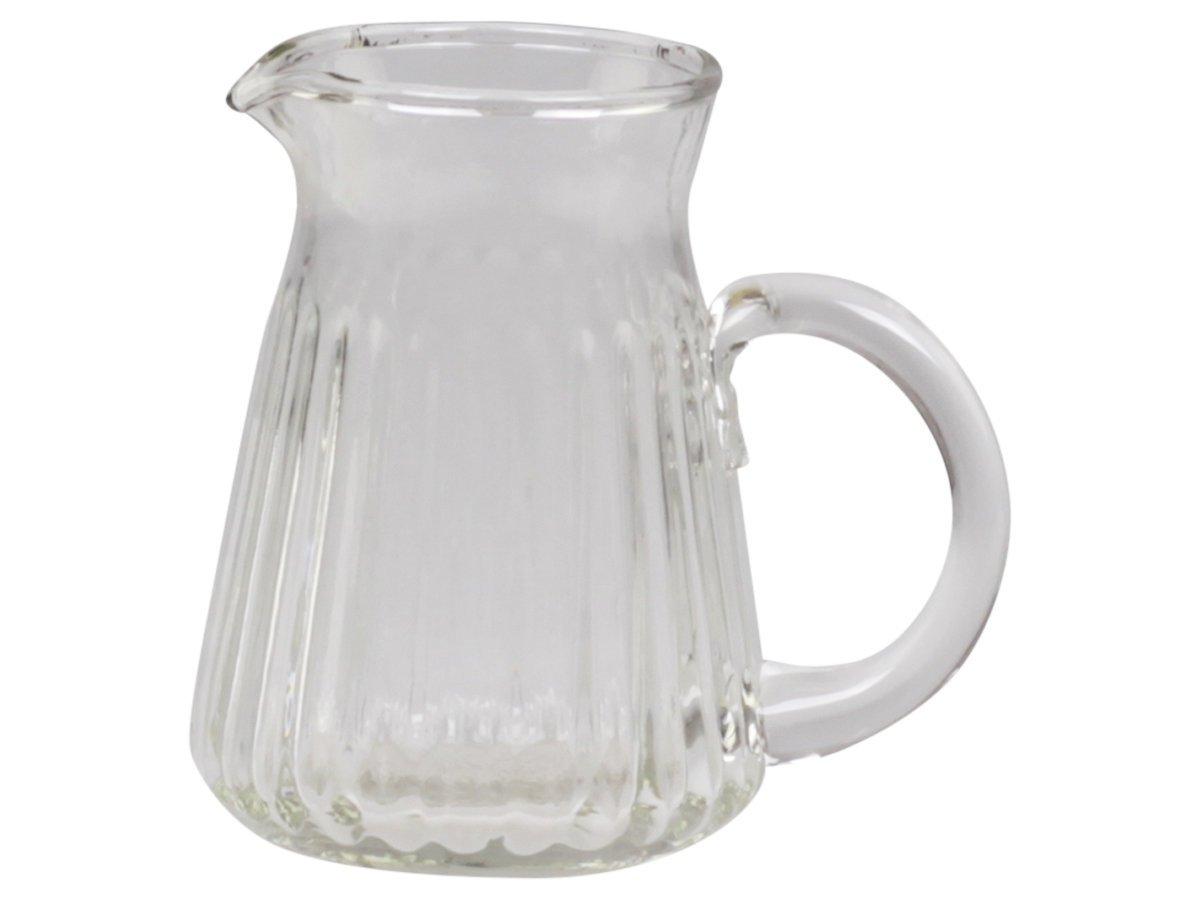 Chic Antique Glas Kännchen mit Rillen