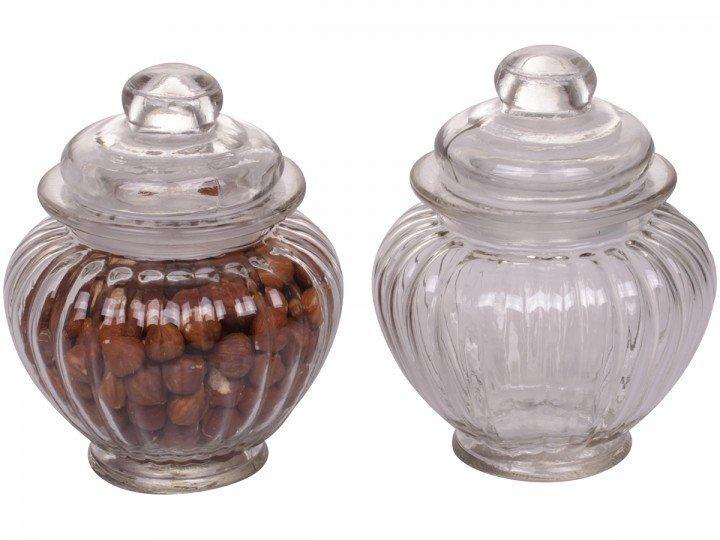 Chic Antique Glas Kürbis mit Deckel