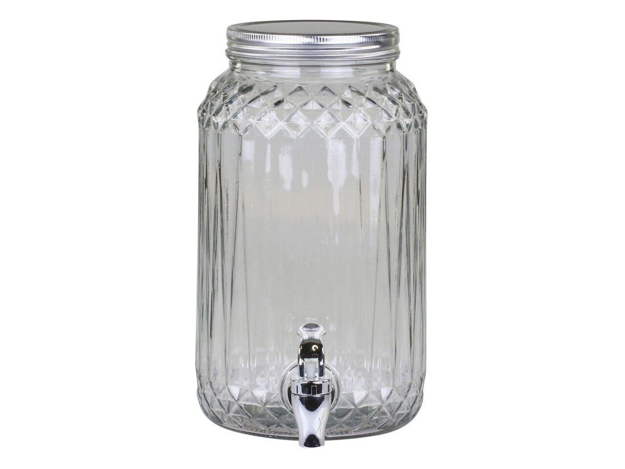 Chic Antique Glas Spender mit Zapfhahn