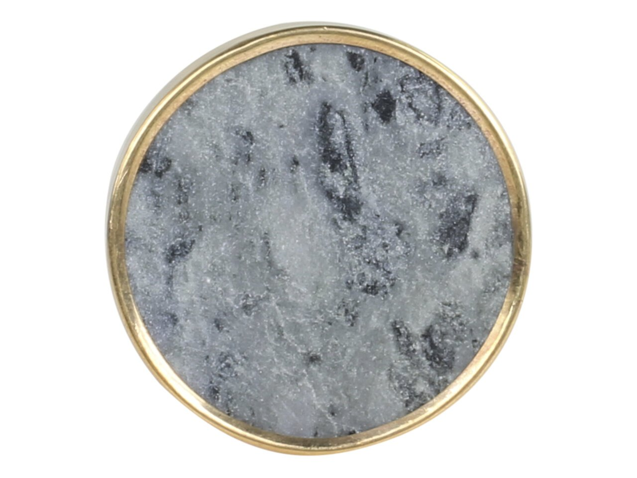 Chic Antique Griff aus Marmor mit Messingkante