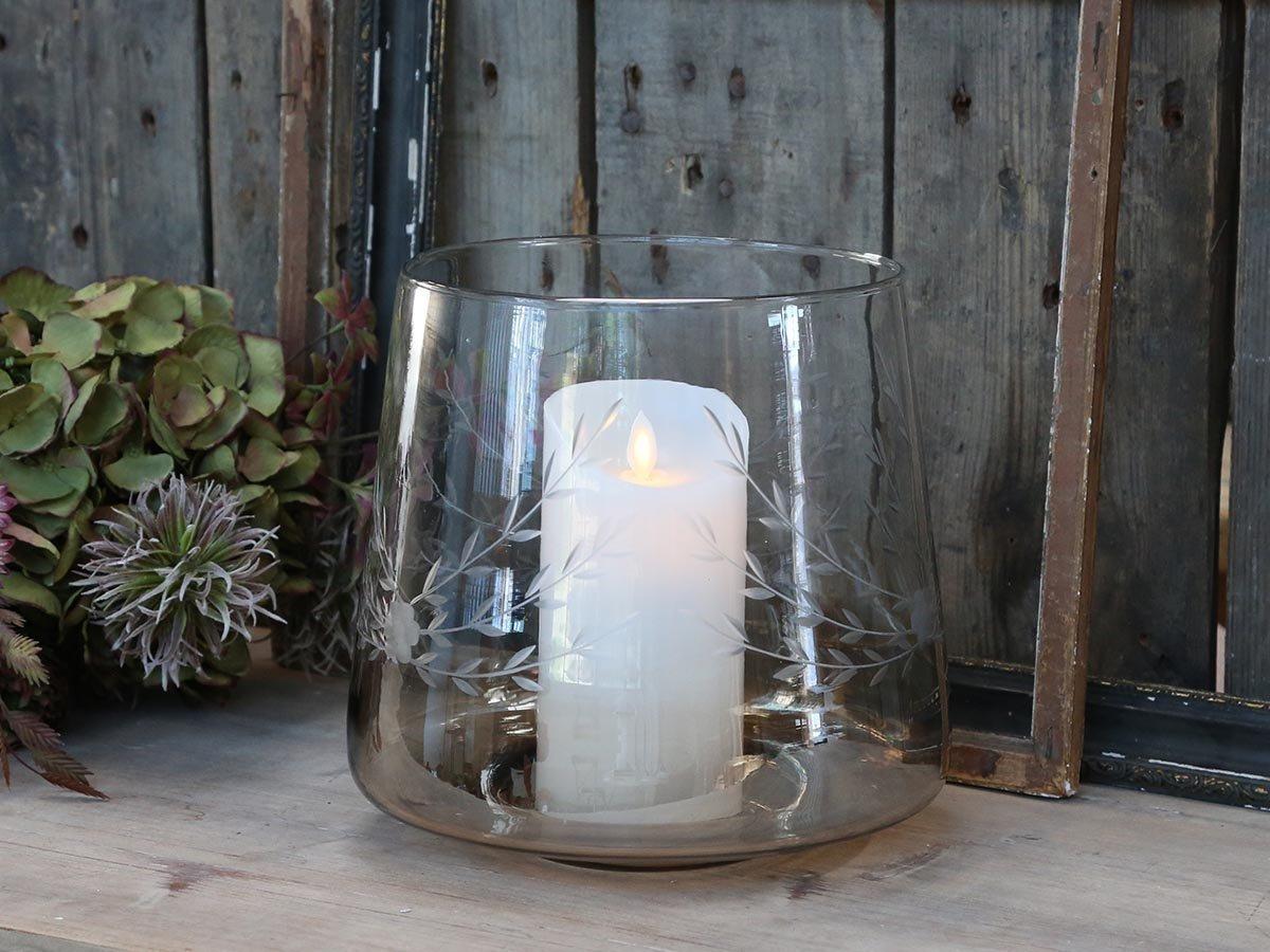 Chic Antique großes Kerzenglas mit Schliff