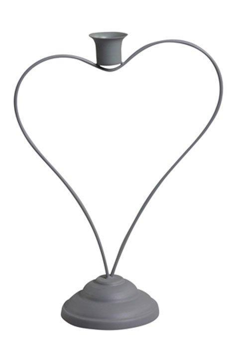 Chic Antique Herz Kerzenhalter auf Fuß