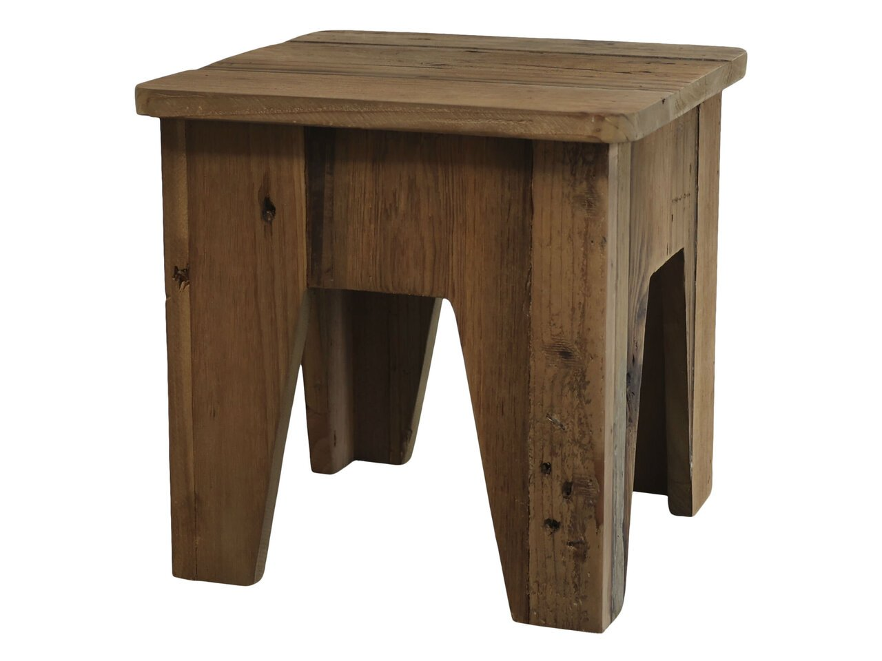 Chic Antique Hocker aus Fichtenholz