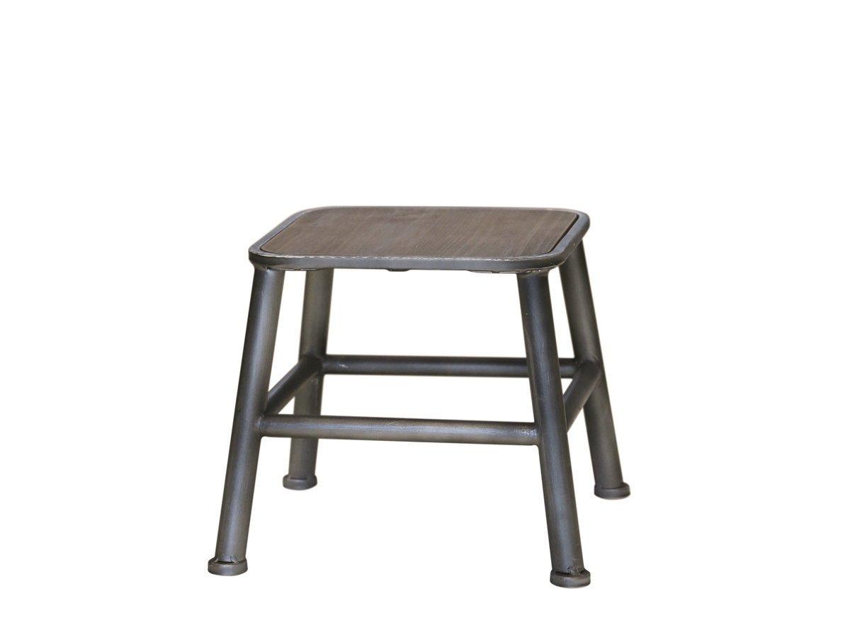 Chic Antique Hocker mit Holz Sitz