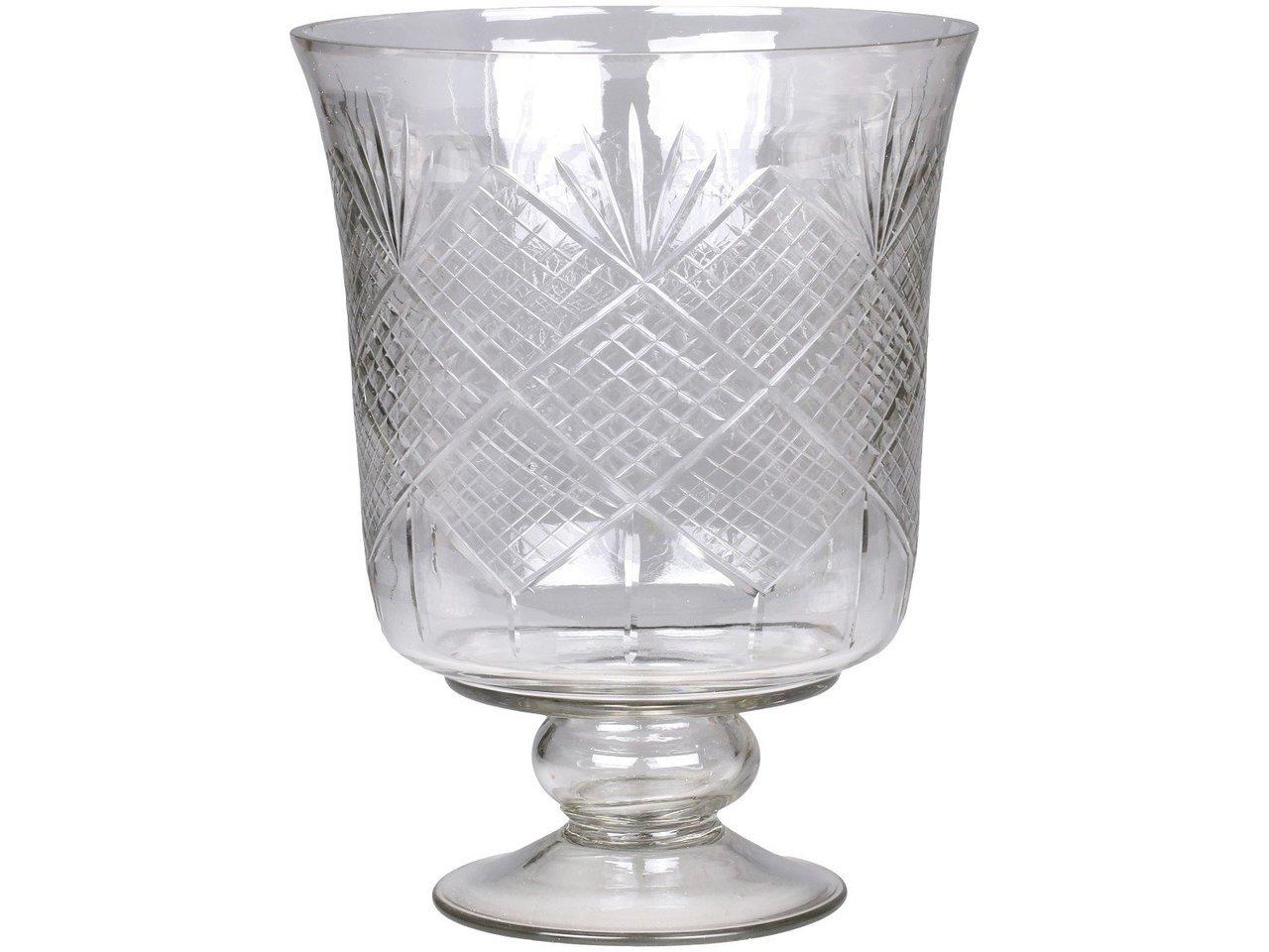 Chic Antique Kerzenhalter aus Glas mit Schliff