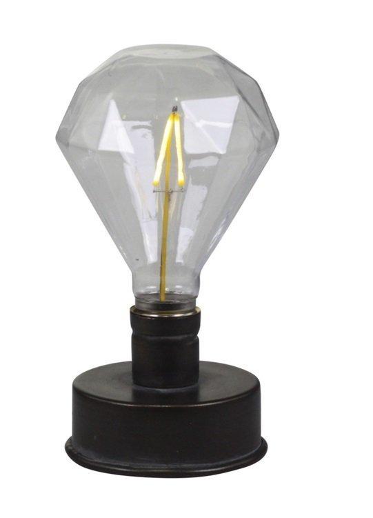 Chic Antique Lampe mit Diamant Glühbirne