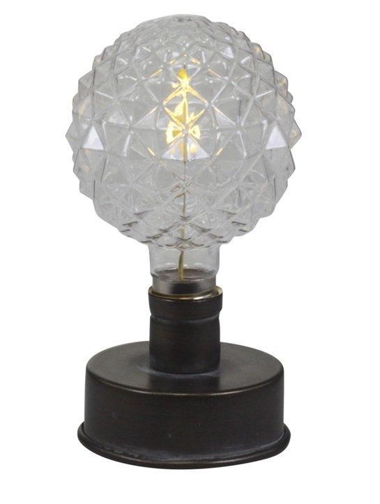 Chic Antique Lampe mit gemusterter Glühbirne