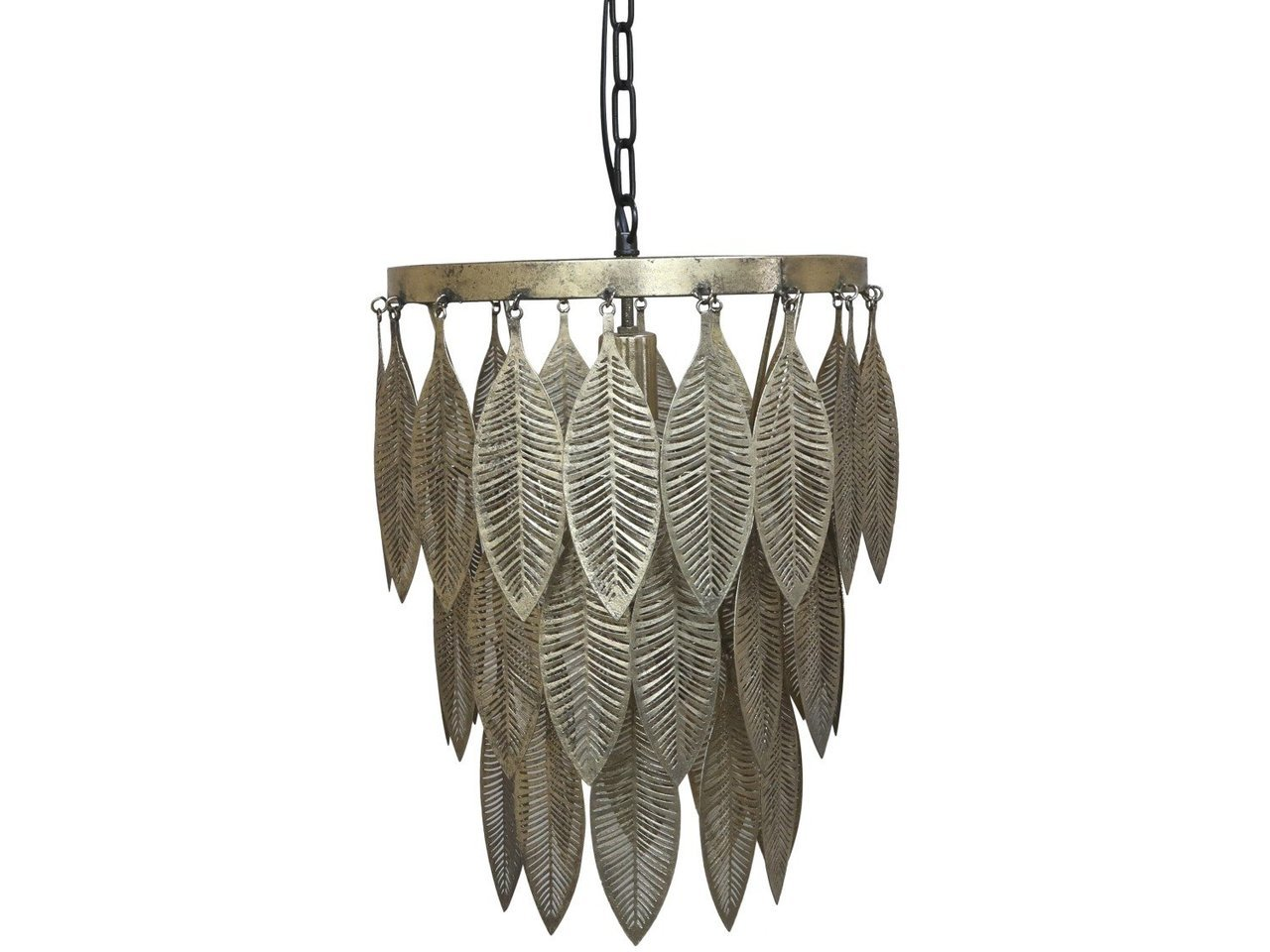 Chic Antique Lampe mit Metalldekoration