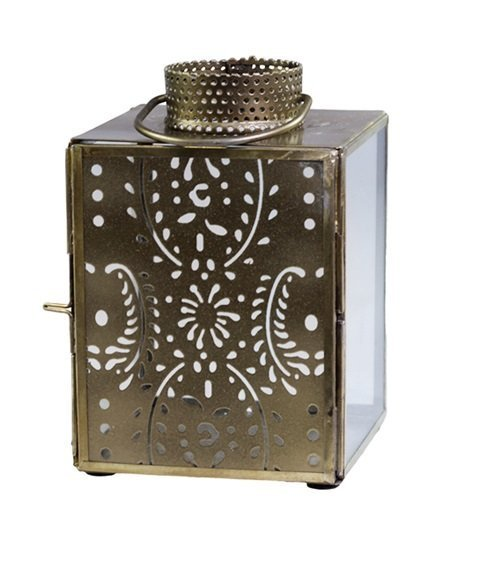 Chic Antique Laterne mit Muster gold