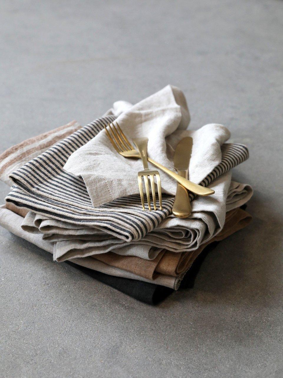 Impressionen zu Chic Antique Leinen Serviette 4er Set, Bild 1