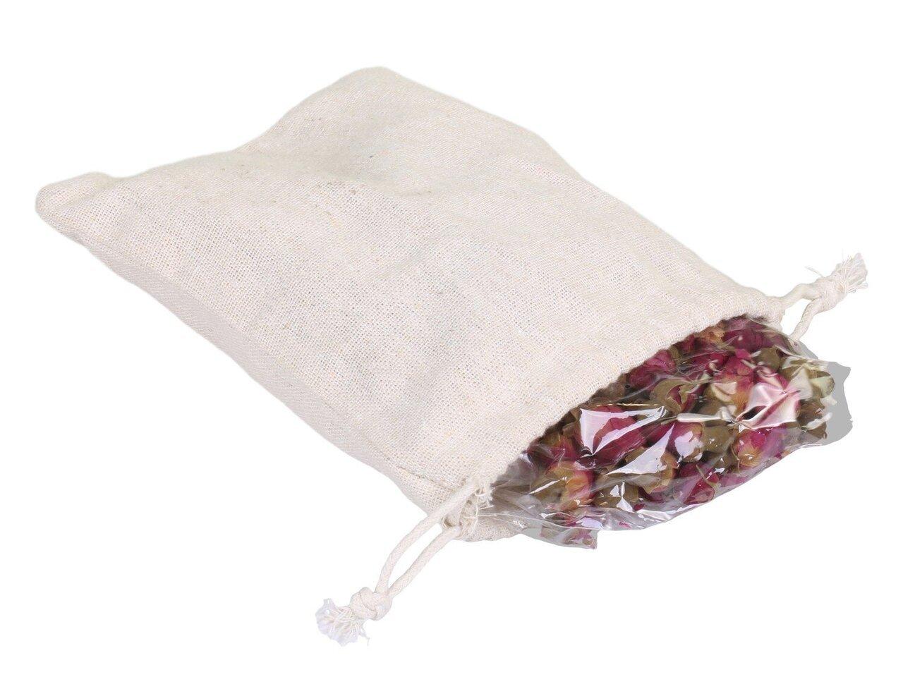 Chic Antique Fleur Leinentasche mit getrocknetem Rosen Potpourri