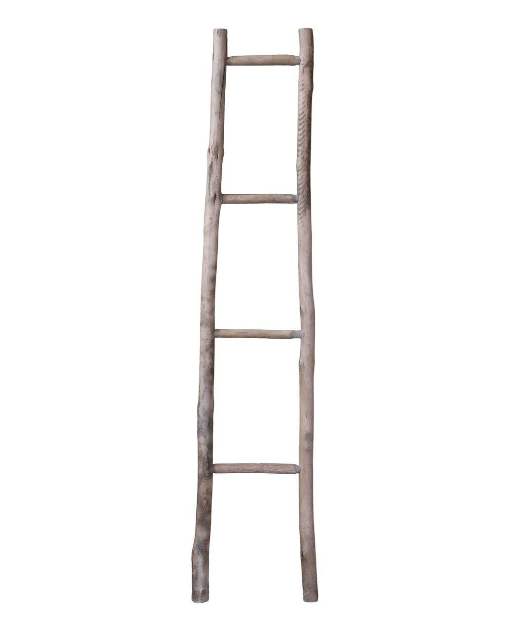 Chic Antique Leiter aus Holz für Dekozwecke