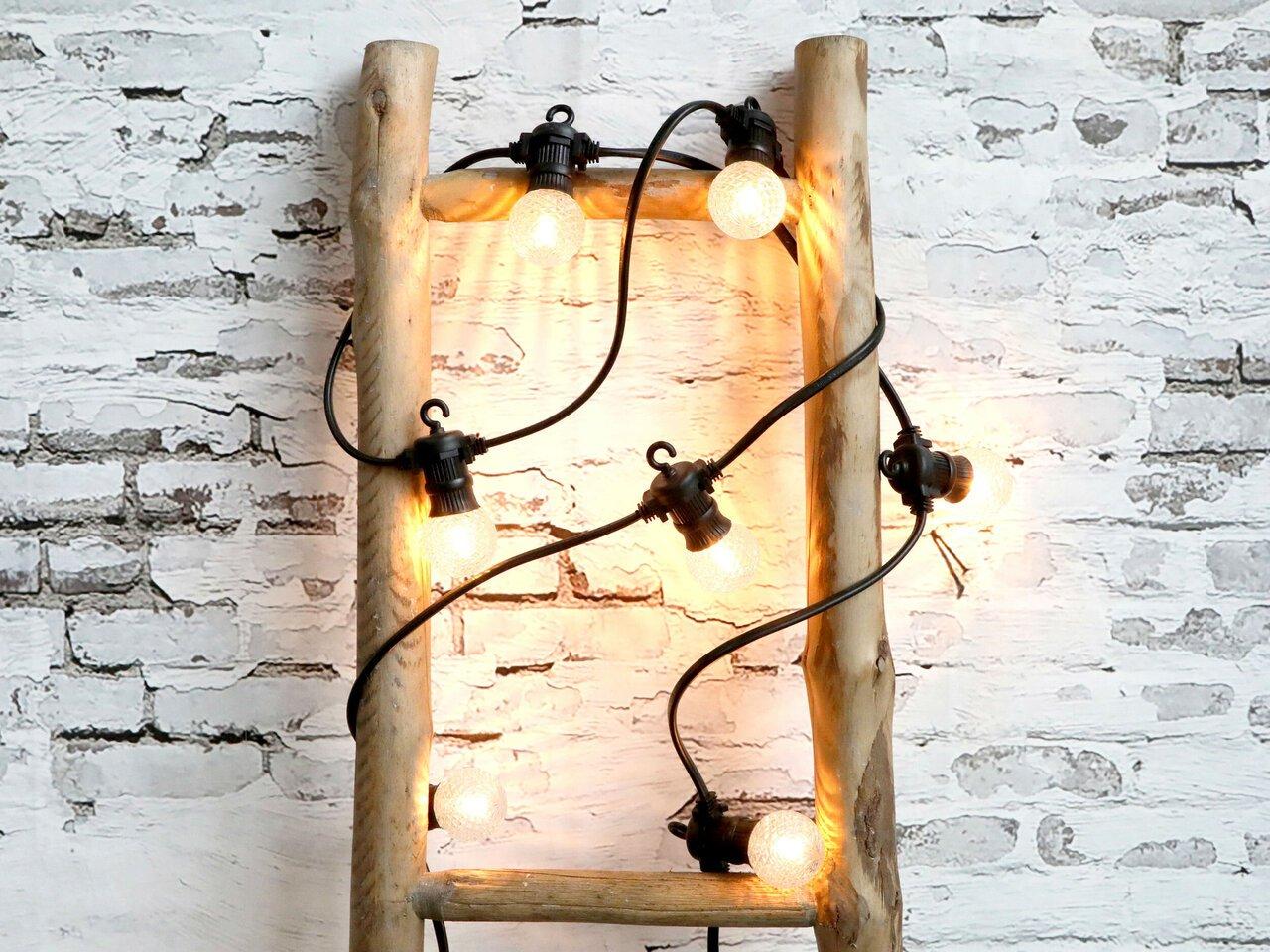 Chic Antique Lichterkette mit Diamant LED Lichtern