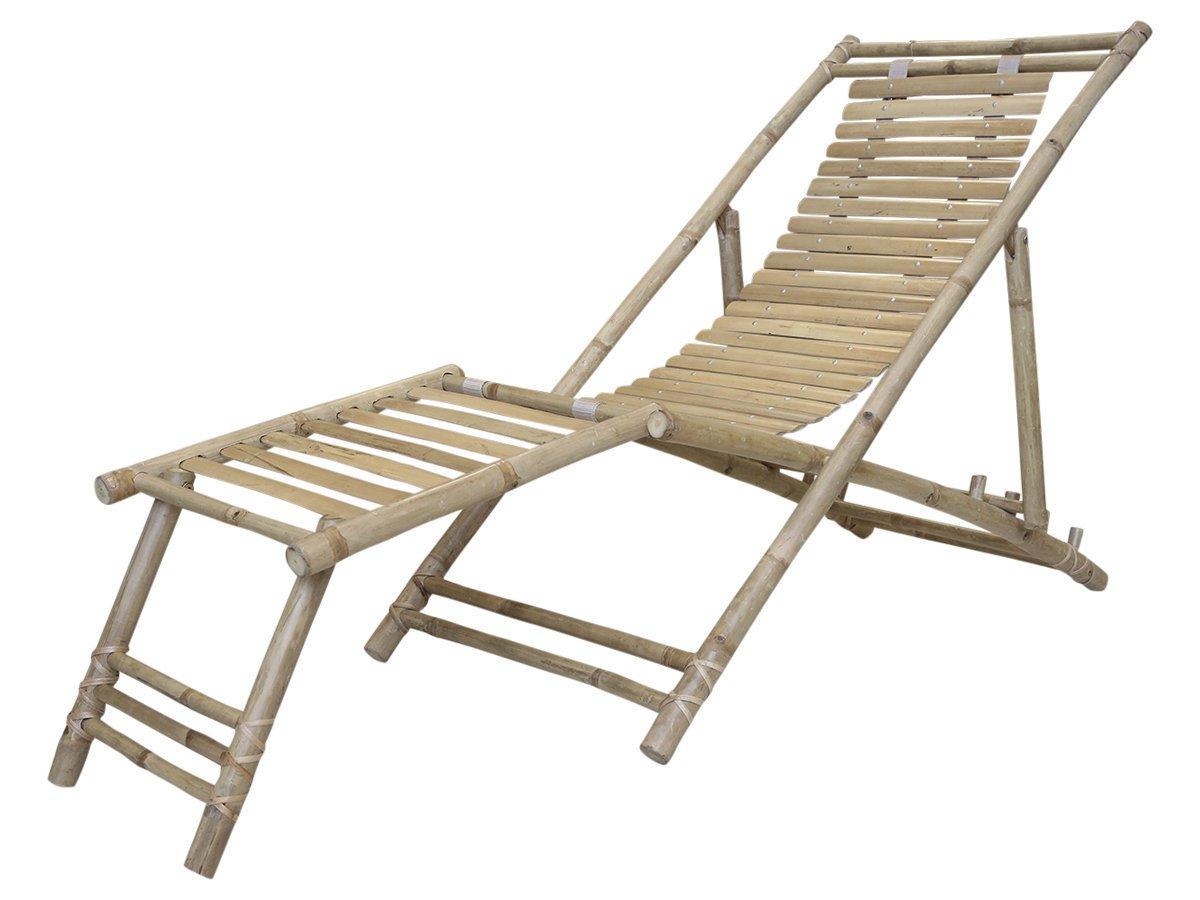 Chic Antique Liegestuhl Lyon aus Bambus