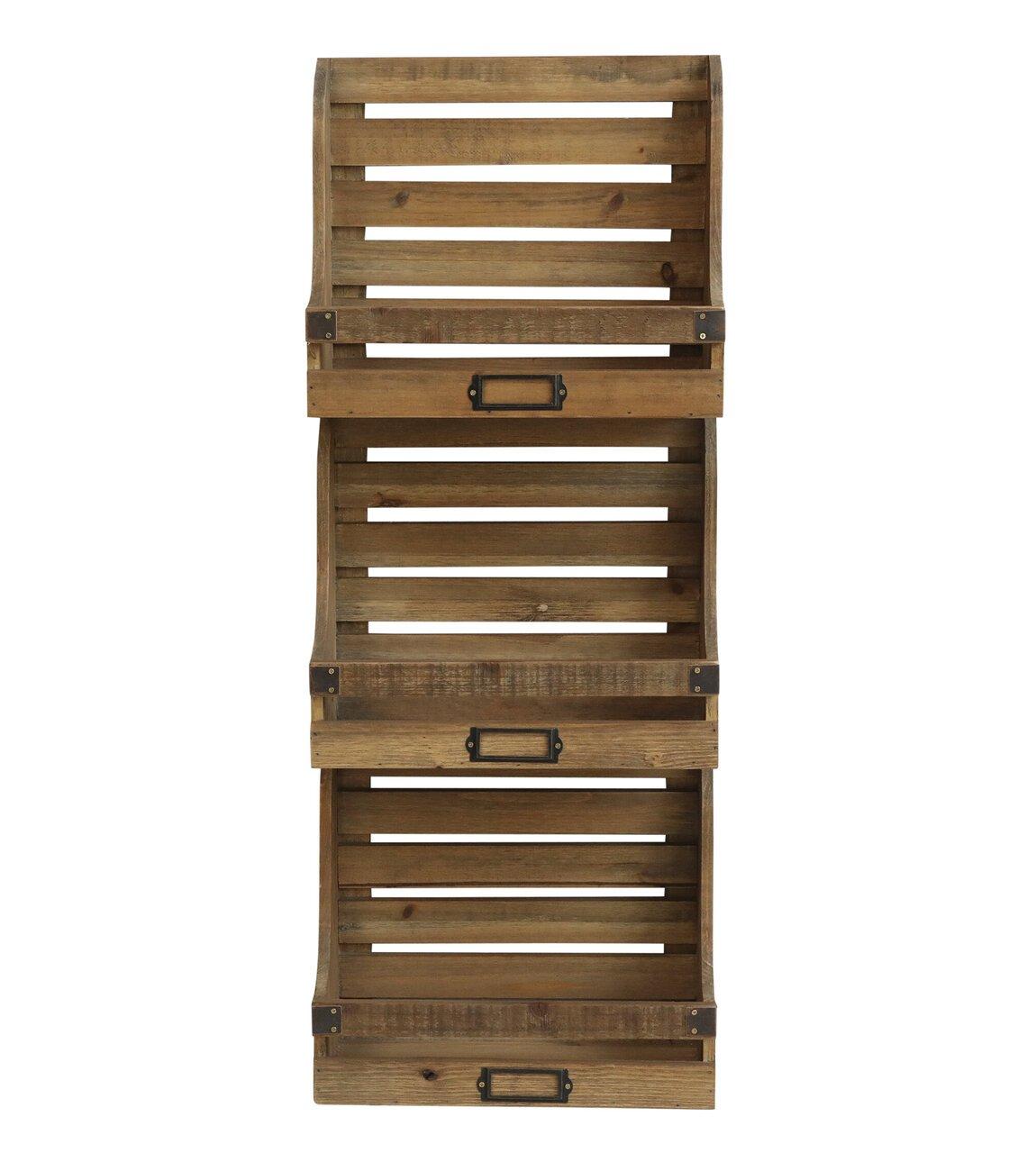 Chic Antique Magazinhalter aus Holz