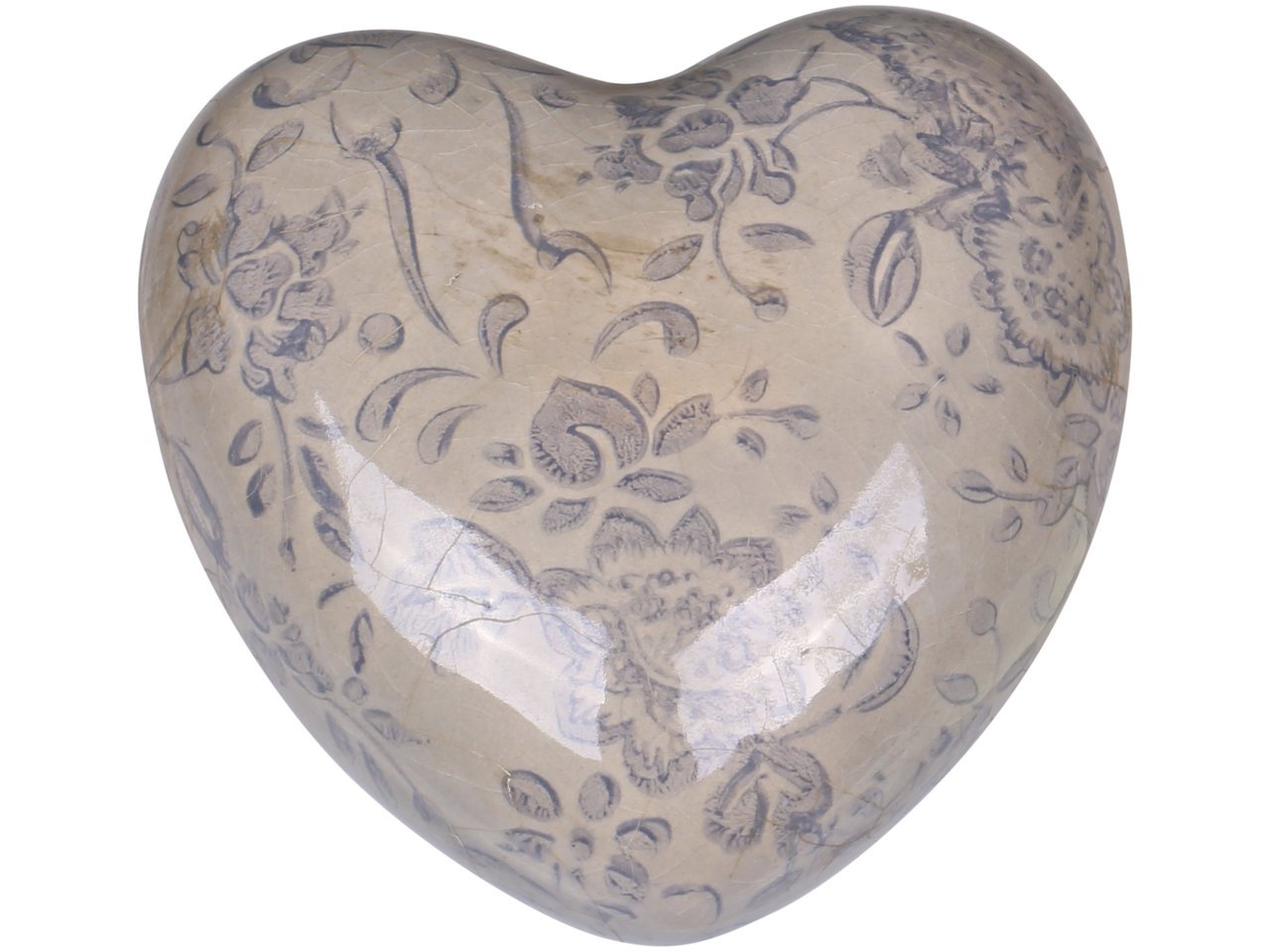 Chic Antique Melun Herz mit französischem Muster