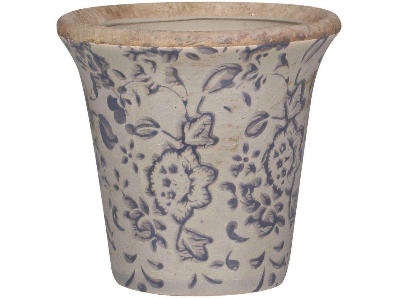 Chic Antique Melun Keramik Übertopf mit französischem Muster