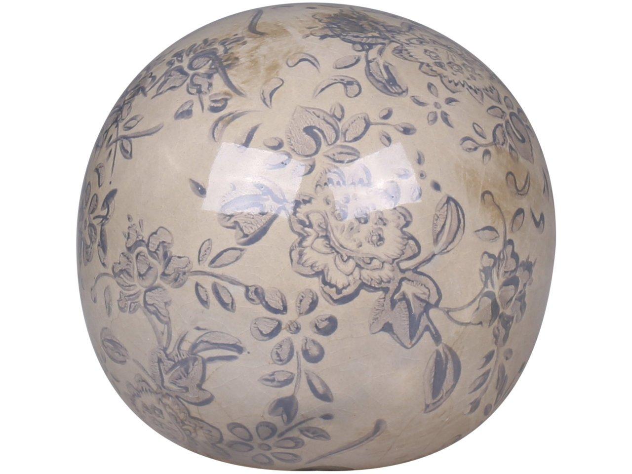 Chic Antique Melun Kugel mit französischem Muster