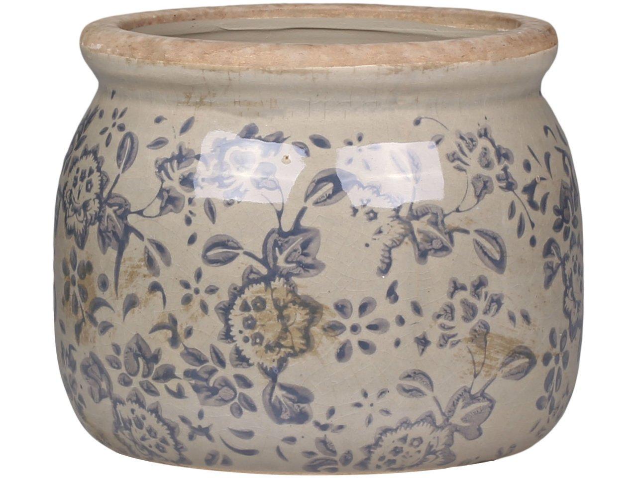 Chic Antique Melun Übertopf aus Keramik grau