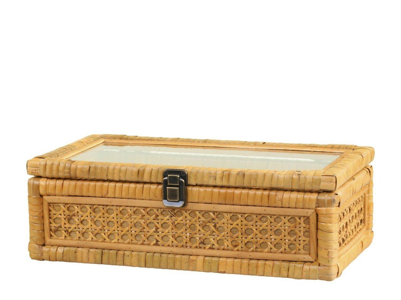 Chic Antique Schachtel aus Geflecht mit 3 Fächern