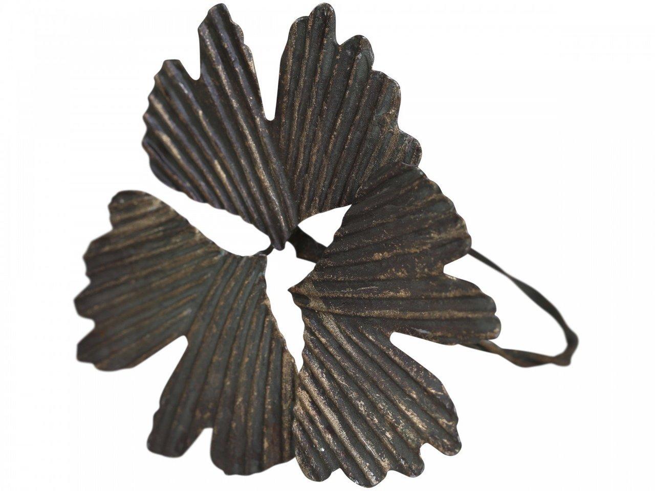 Chic Antique Serviettenring mit Ginkgo Blättern