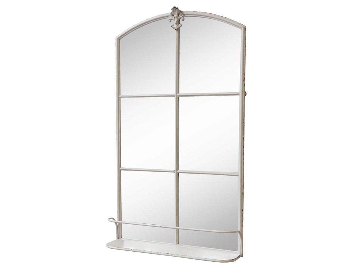 Chic Antique Shabby Stall Spiegel mit Ablage