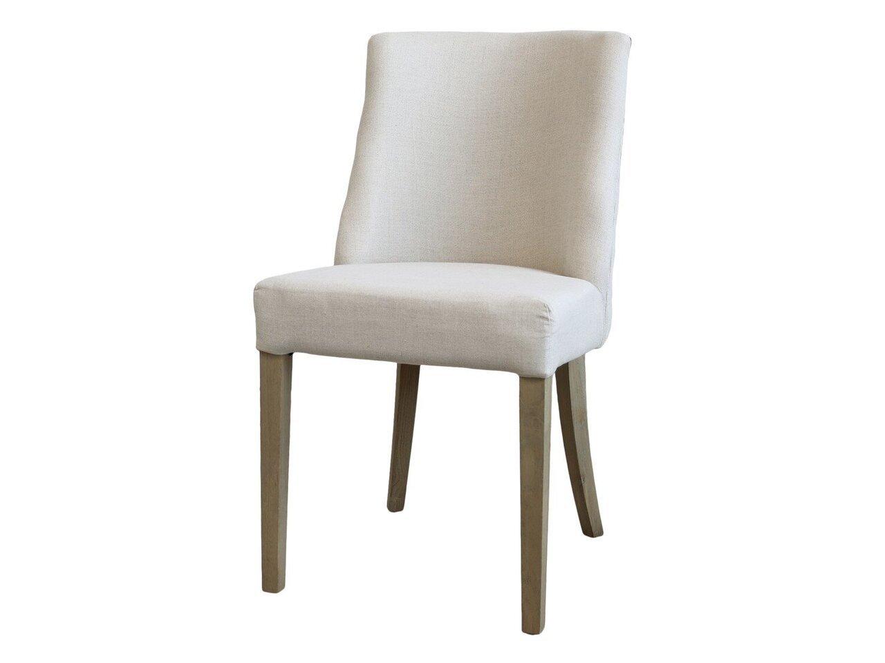 Chic Antique Stuhl aus Leinenstoff