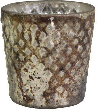 Chic Antique Teelichtglas mocca