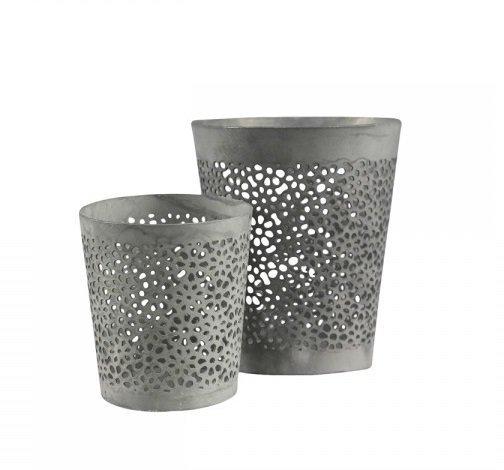 Chic Antique Teelichthalter mit Muster im 2er Set