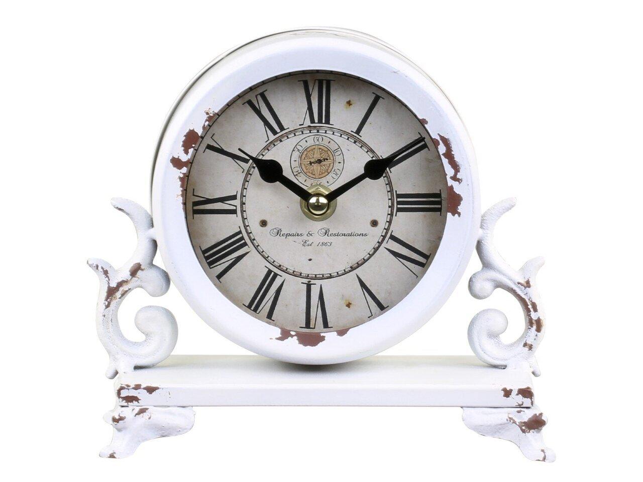 Chic Antique Tisch Uhr mit Dekor