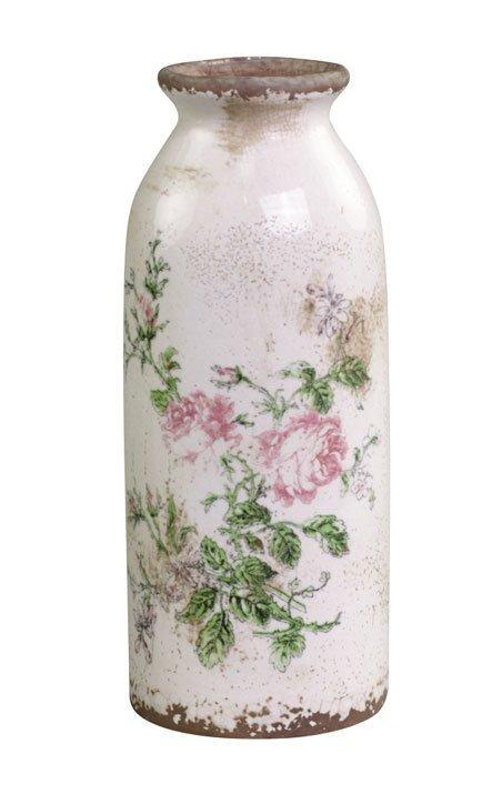 Chic Antique Toulouse Flasche mit Rosen
