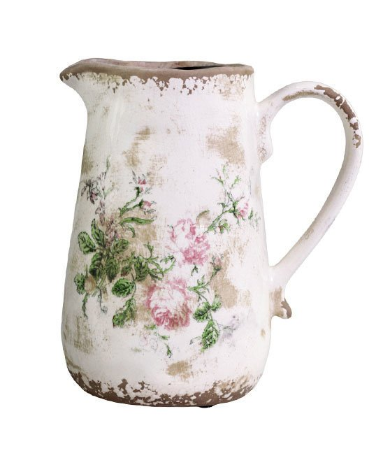 Chic Antique Toulouse Kanne mit Rosen
