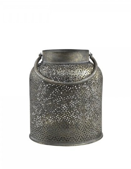 Chic Antique Vire Milchkannen Laterne mit Muster