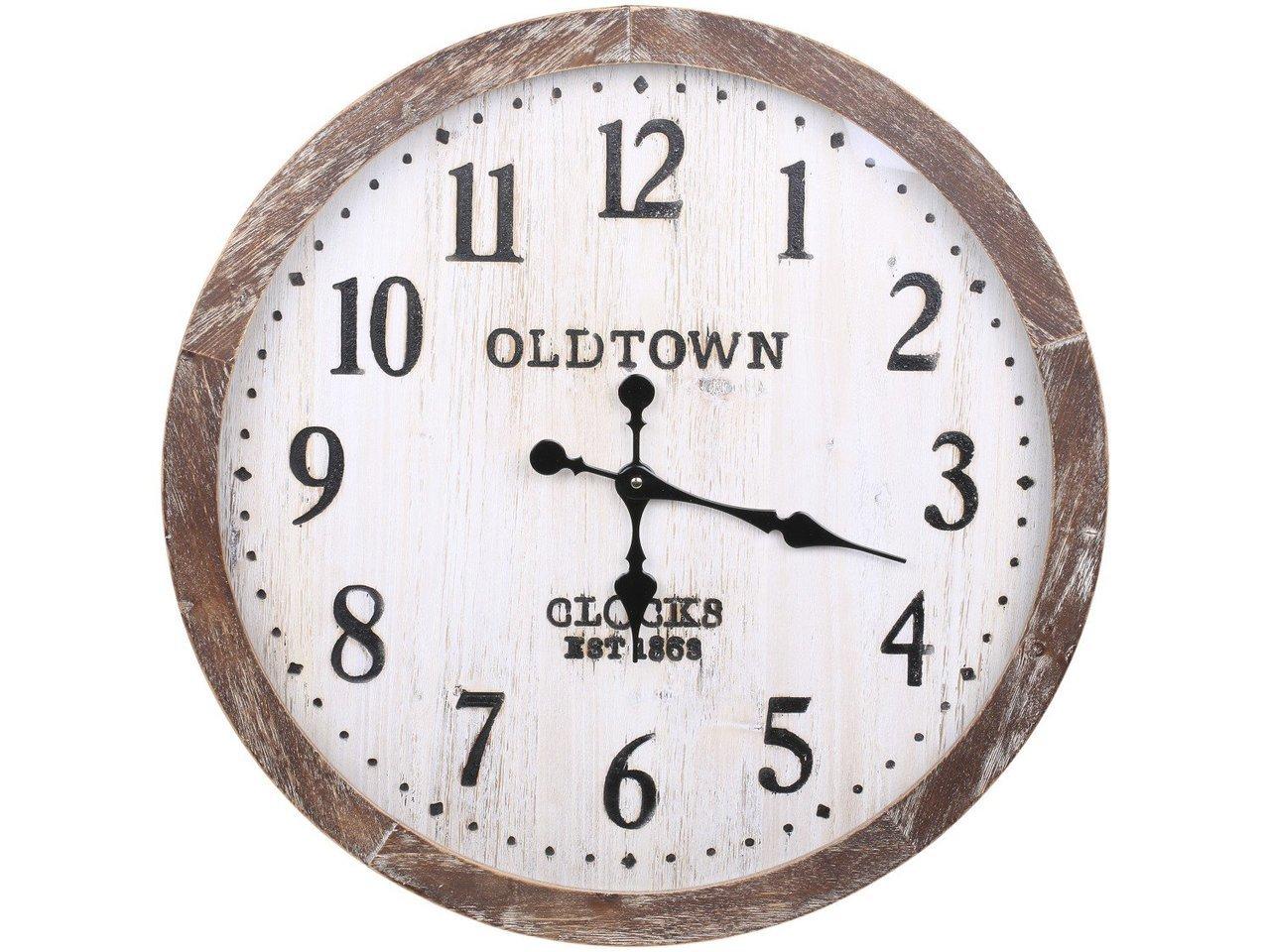 Chic Antique Wanduhr Oldtown