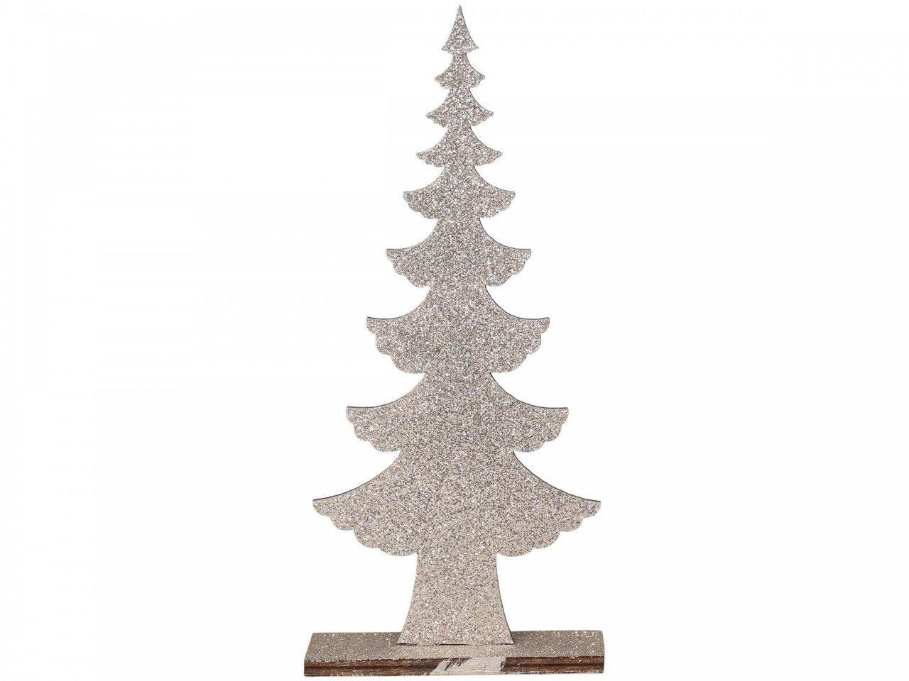 Chic Antique Weihnachtsbaum mit Glitzer