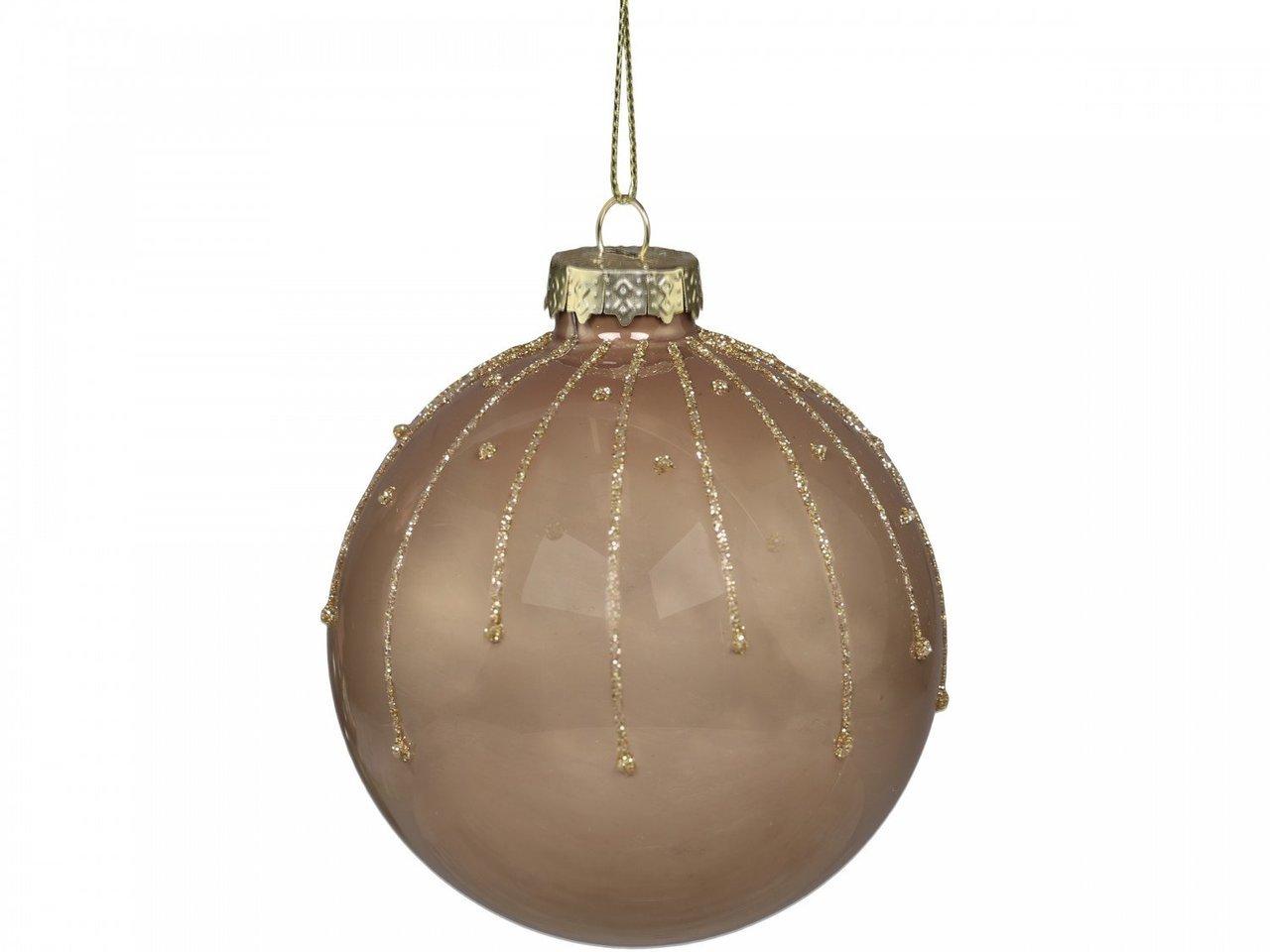 Chic Antique Weihnachtskugel mit Glasur