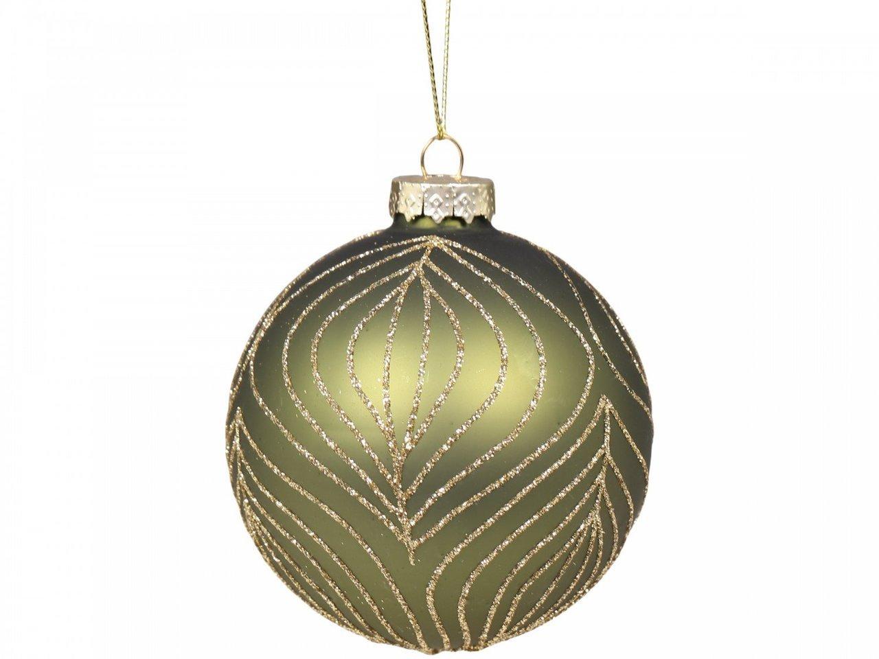 Chic Antique Weihnachtskugel mit Goldmuster
