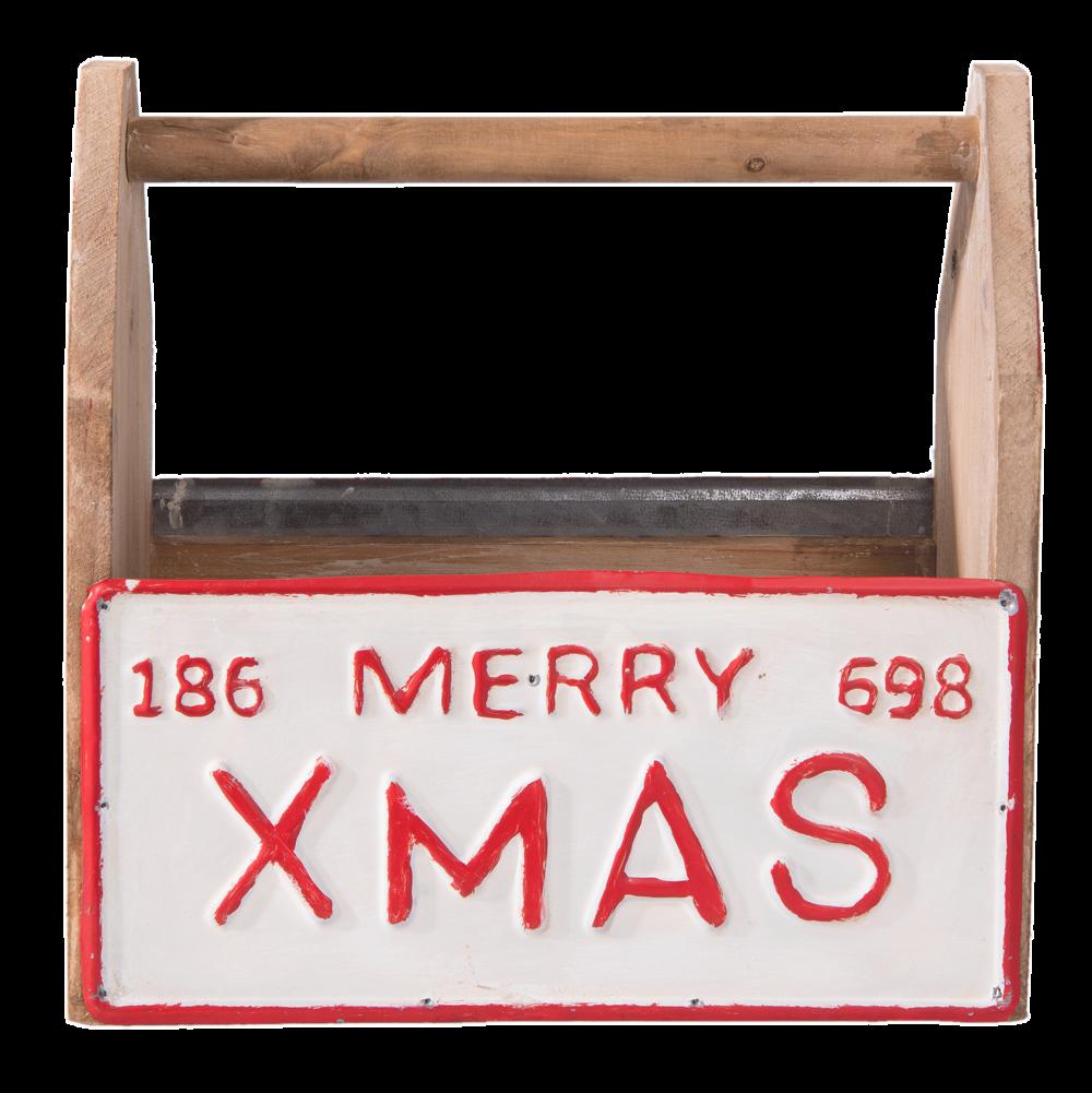 Clayre & Eef Deko Kiste Merry Xmas
