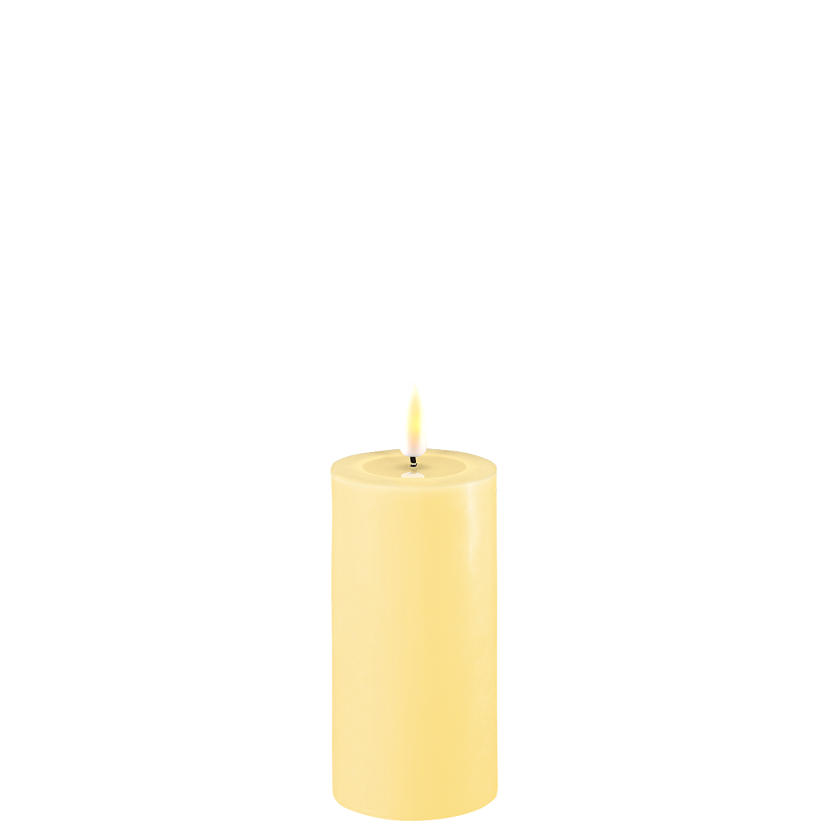 Deluxe Homeart LED Stumpenkerze Real Flame hellgelb