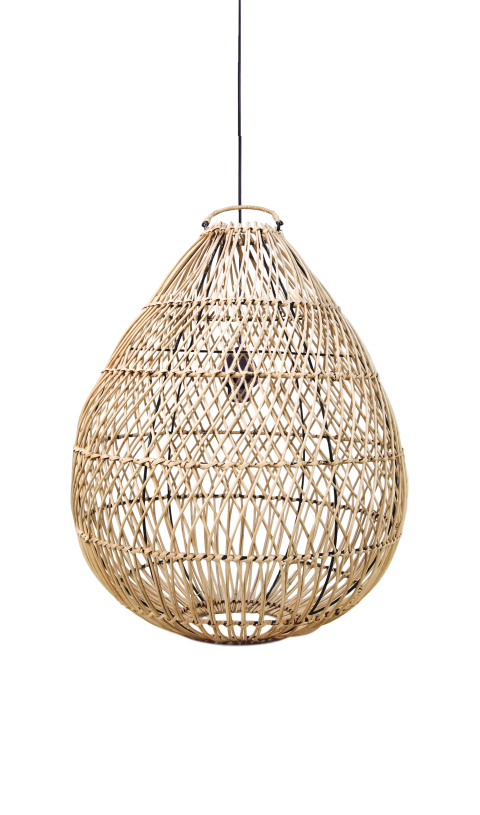 HSM Collection Design Pendelleuchte Rattan