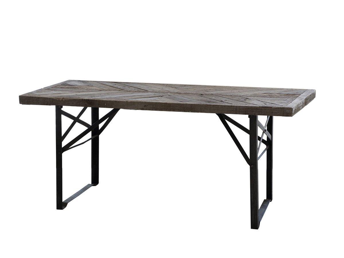 Chic Antique Esstisch mit Holzplatte