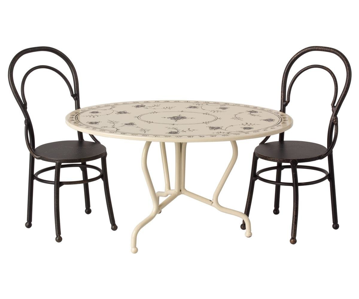 Maileg Esszimmer Tisch mit Stühle Mini